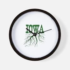 Iowa Roots Wall Clock