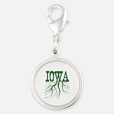Iowa Roots Silver Round Charm