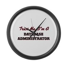 Trust me I'm a Database Administr Large Wall Clock