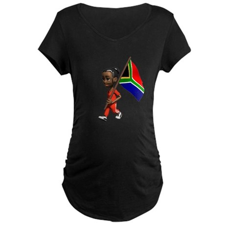 South Africa Girl Maternity Dark T-Shirt
