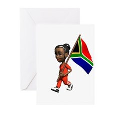 South Africa Girl Greeting Cards (Pk of 10)