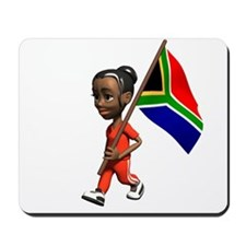 South Africa Girl Mousepad