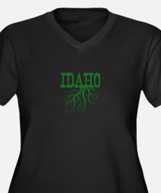 Idaho Roots Women's Plus Size V-Neck Dark T-Shirt