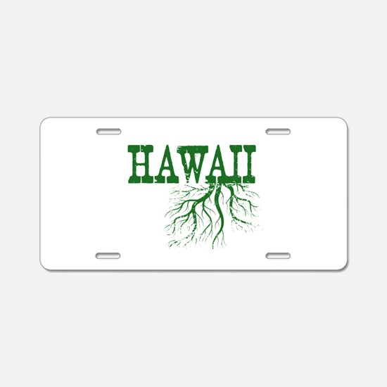 Hawaii Roots Aluminum License Plate