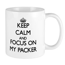Keep Calm and focus on My Packer Mugs