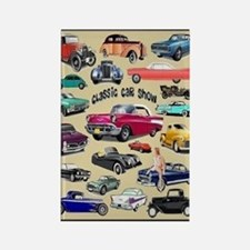 Car Show Rectangle Magnet Magnets