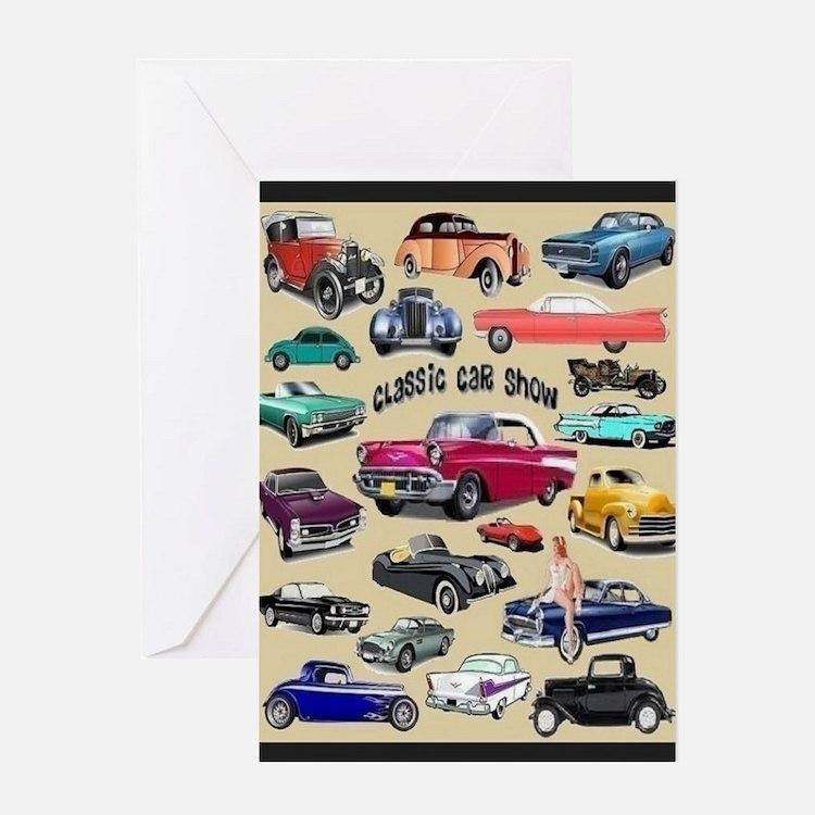 Car Show Card Greeting Cards