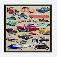 Car Show Tile Coaster