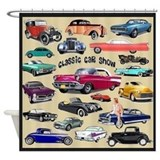 Classic car Shower Curtains