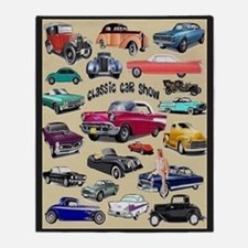 Car Show Throw Blanket