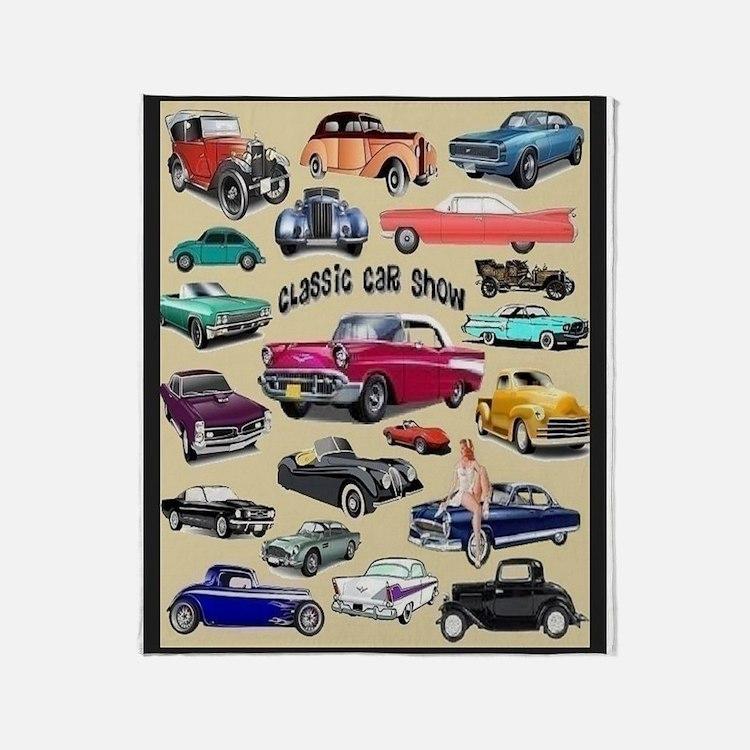 Car Show Throw Blanket
