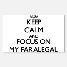 Keep Calm and focus on My Paralegal Decal