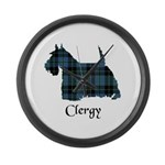 Terrier - Clergy Large Wall Clock