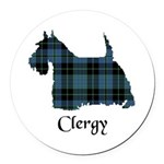 Terrier - Clergy Round Car Magnet
