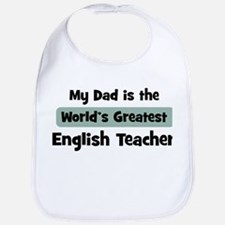 Worlds Greatest English Teach Bib