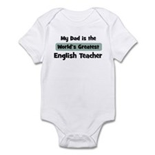 Worlds Greatest English Teach Infant Bodysuit