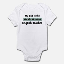 Worlds Greatest English Teach Infant Bodysuit