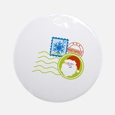 Christmas Stamps Ornament (Round)