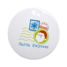 Santa Express Ornament (Round)