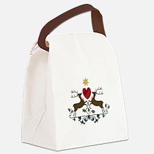 Reindeer Crest Canvas Lunch Bag