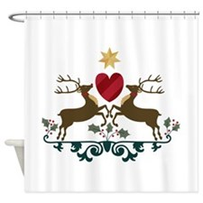 Reindeer Crest Shower Curtain