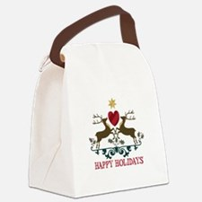 Happy Holidays Canvas Lunch Bag