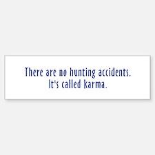 Hunting Accidents Bumper Car Car Sticker
