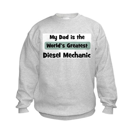 Worlds Greatest Diesel Mechan Kids Sweatshirt