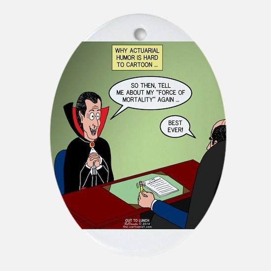 Dracula Life Insurance Ornament (Oval)