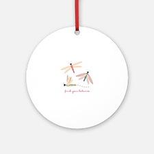 Dragonfly Balance Ornament (Round)