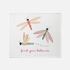 Dragonfly Balance Throw Blanket