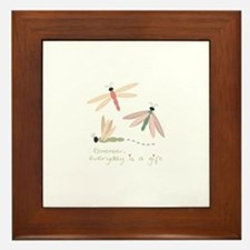 Dragonfly Day Gift Framed Tile