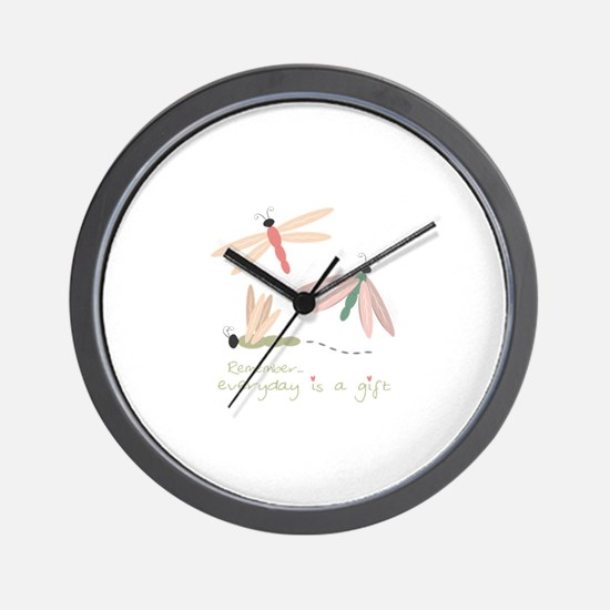 Dragonfly Day Gift Wall Clock