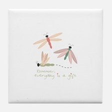 Dragonfly Day Gift Tile Coaster