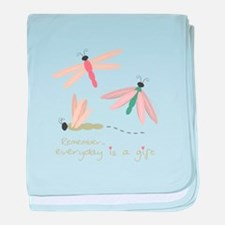 Dragonfly Day Gift baby blanket