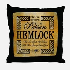 POISON HEMLOCK Throw Pillow