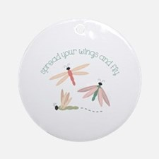 Dragonfly Spread Wings Ornament (Round)