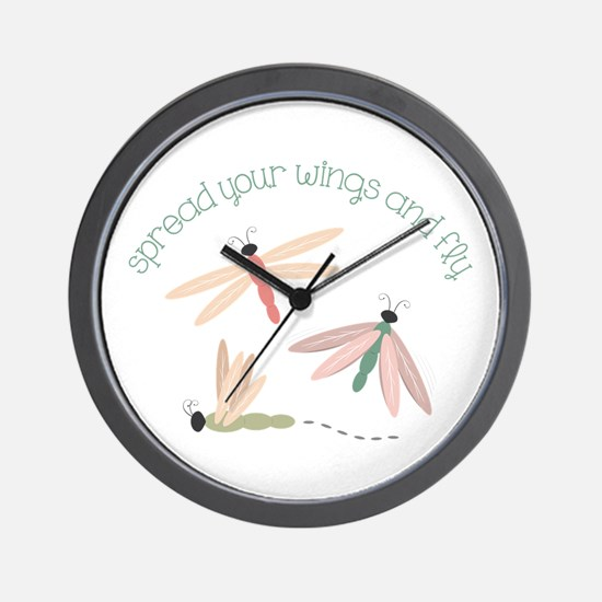Dragonfly Spread Wings Wall Clock