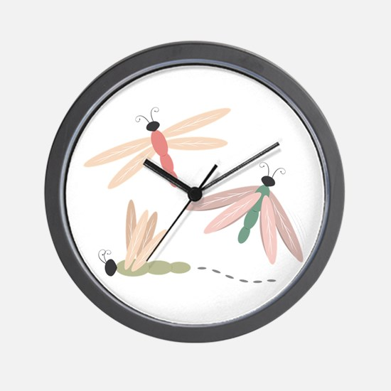 Dragonfly Bugs Wall Clock