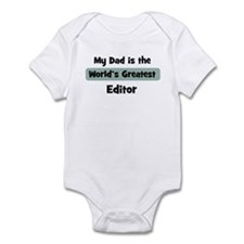 Worlds Greatest Editor Infant Bodysuit