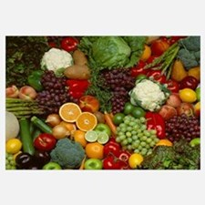 Produce, Spread of mixed fruits and vegetables
