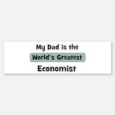 Worlds Greatest Economist Bumper Bumper Bumper Sticker