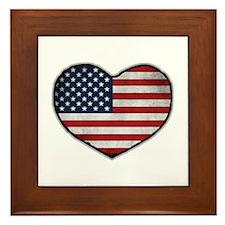 American Heart Framed Tile