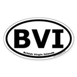 British Virgin Islands Oval Sticker with