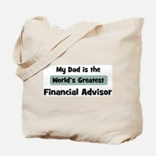 Worlds Greatest Financial Adv Tote Bag
