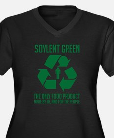 Soylent Green Women's Plus Size V-Neck Dark T-Shir