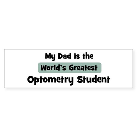 Worlds Greatest Optometry Stu Bumper Sticker