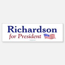 Bill Richardson '08 Bumper Car Car Sticker