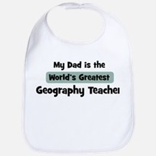 Worlds Greatest Geography Tea Bib