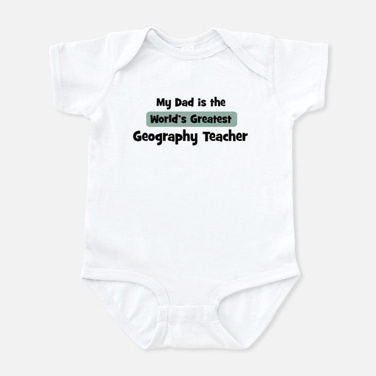 Worlds Greatest Geography Tea Infant Bodysuit